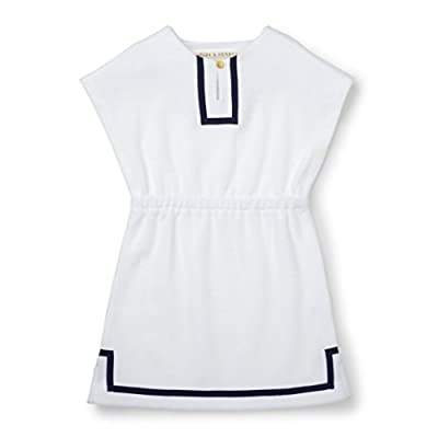 Hope and Henry Girls Terry Dress Swim Cover-up White