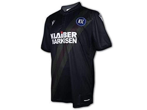 Macron Karlsruher SC 3rd Shirt 19/20 schwarz KSC Ausweich Trikot Fan Jersey, Größe:XXL