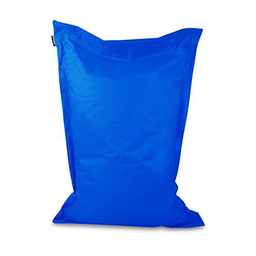 Sitzsack Bodenkissen Indoor Outdoor Riesensitzsack Größen & Farben wählbar Kinder Bean Bag Erwachsene Wasserabweisend Schmutzabweisend (Blau-150x120 cm)