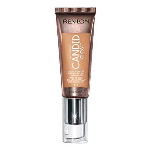 Revlon PhotoReady Candid Glow Moisture Glow Anti-Pollution Foundation with Vitamin E and Prickly Pear Oil, Anti-Blue Light Ingredients, without Parabens, Pthalates, and Fragrances, True Beige, 0.75 oz