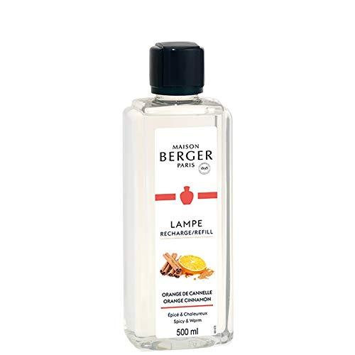 Lampe Berger - Recharge de parfum Lampe Berger 500ml - Parfum Orange de Cannelle - Maison Berger Paris