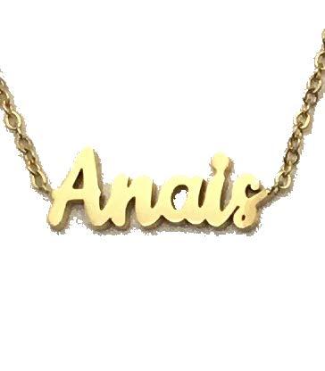 Jey Collar Nombre Mujer INOX (Oro, Anais)