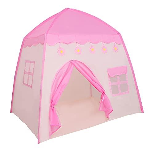 S SMAUTOP Spielzelt, Kinderzelt für Mädchen Prinzessin Tipi Zelt Kinderzimmer,...