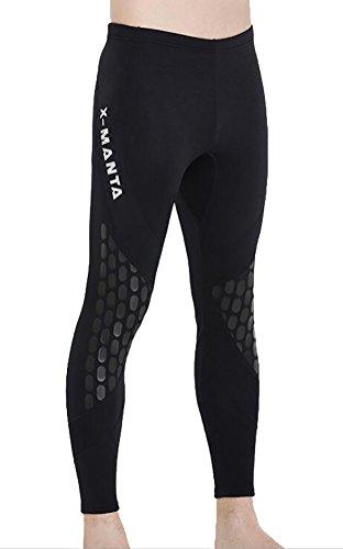 DIVE&SAIL uomini ragazzi 1.5mm neoprene Diving Pant Drift canottaggio pantaloni Diving pantaloni Slim Fit, Uomo, QS051, Nero, L