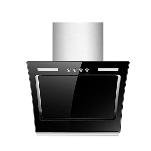 SXYY Gebogene Dunstabzugshaube Aus Glas, 50/60 cm Küche Seitige Absaugung 15 M³ / Min Dunstabzugshaube, Manuelle Freie Öffnung Schließen,LED-Energiesparlampe