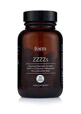 Form ZZZZs - Natural Nootropic for Sleep | 5-HTP | Magnesium | Zinc | Calming Amino Acids | for a Naturally Regenerative Sleep