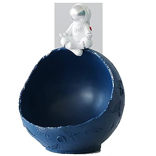 DUNAKE Escultura Decorativa,Astronaut Decoration Innovative Nordic Desktop Home Decor,Caja De Almacenamiento Creativa De La Caja De Almacenamiento Creativa Creativa De Cajas De Joyería del Animal