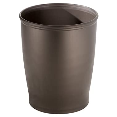 InterDesign Kent - Round Trash Can for Bathroom, Kitchen or Office - Bronze - 8.35 x 10 inches