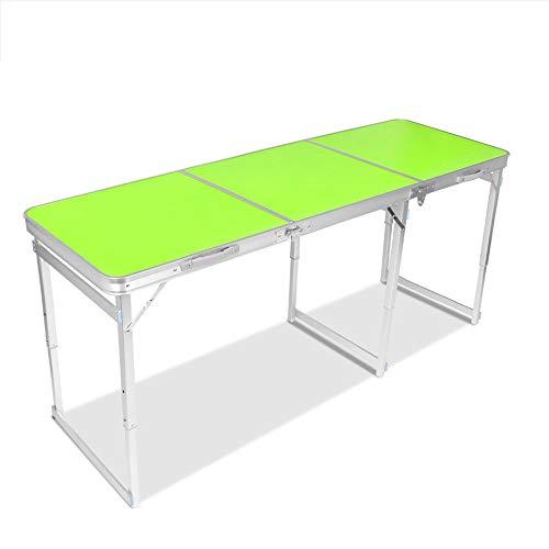 ZA 5.9ft Extended Outdoor draagbare klaptafel met 3 in hoogte verstelbaar, camping picknick party dining BBQ party opvouwbare tafel met draaggreep, indoor lang bureau