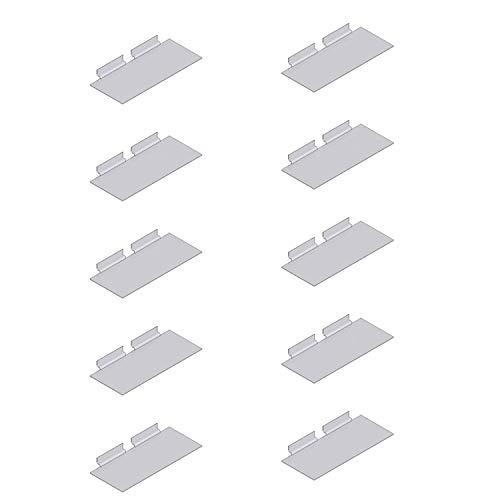 CENTRO NEGOZI RETAIL AND OFFICE SOLUTIONS Kit 10 MENSOLE Ripiani in PLEX PLEXIGLASS per Pannello DOGATO CABINE Armadio Arredamento Fai da Te