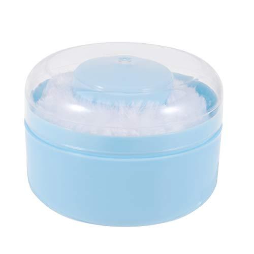 Lurrose Récipient de poudre de corps de corps d'éponge de souffle de poudre de bébé avec le souffle de poudre pour le nourrisson 2pcs
