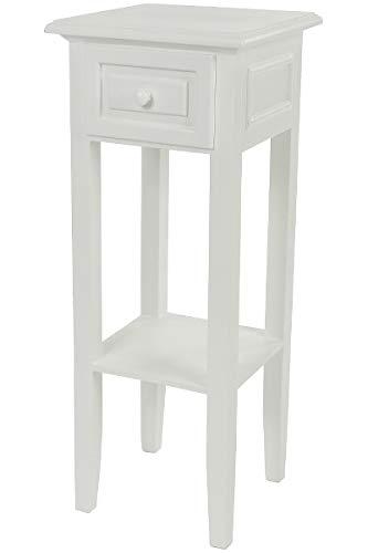 LaNatura Telefontisch Klassik 1 Schublade MDF Weiß
