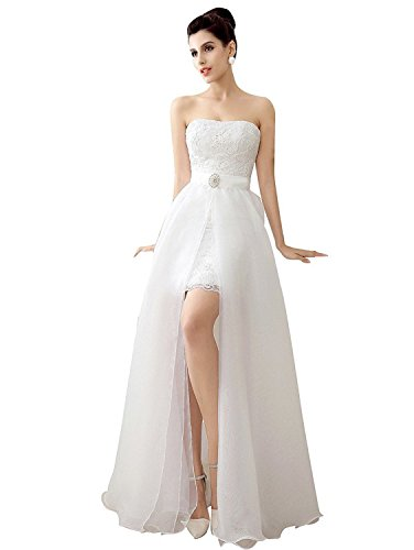 Tianshikeer Brautkleid Zweiteilig Tüll Glitzer Lang Herzausschnitt Sexy Hochzeitskleid 2 Teilig