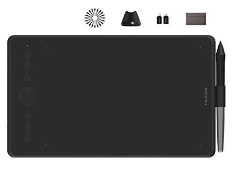HUION Grafiktablett - Inspiroy Ink H320M Innovatives Grafiktablett mit Zwei Funktionen und LCD-Schreibtablett, 8192 Ebenen, Neigefunktion, Android-Unterstützung, mit Schutzhülle (Schwarz)