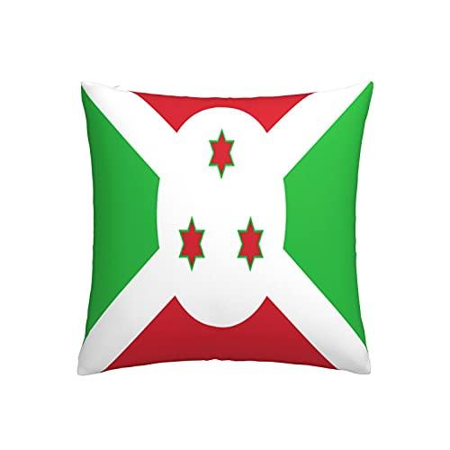 Kissenbezug mit Flagge von Bur&i, quadratisch, dekorativer Kissenbezug für Sofa, Couch, Zuhause, Schlafzimmer, für drinnen & draußen, 45,7 x 45,7 cm