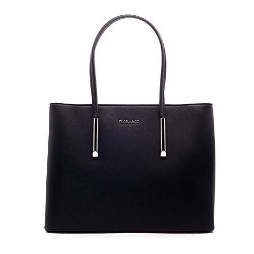 Flora & Co handtas dames shopper elegante tas grote hengseltas voor kantoor school winkel 5717
