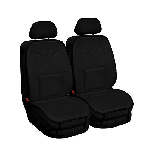 Saferide - Juego de 2 fundas universales para asientos de coche (poliéster negro, aptas para airbag)
