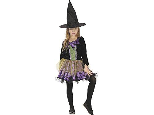 DISONIL Costume Strega Pipistrelli Bimba M