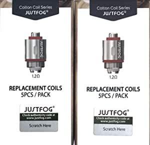 Justfog P16A, P14A, Q16, Q14, S14, G14, C14 Spulen (1,2 Ohm) 10 Stück