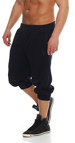 Gennadi Hoppe Herren 3/4 Trainingshose Jogginghose Bermuda Pant (M, blau)