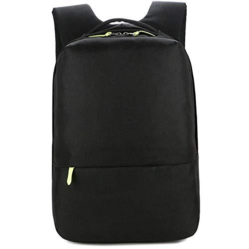 Men's City Fashion Business Nylon Laptop Backpack Waterproof Youth Bag Large Capacity Travel Bag Rucksack, Black,15 Inches