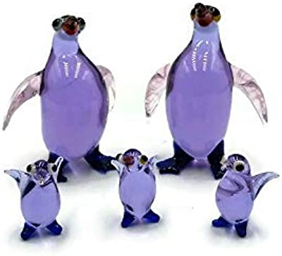 Collectible Miniature,Home Decor,Handcrafted,Vintage,Gift 5Pcs Penguin Ceramic