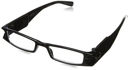 Foster Grant Liberty Rectangular Reading Glasses,Black,2.5