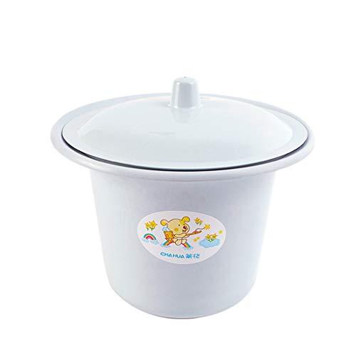 Npeiyi Urinal-Eimer aus Kunststoff mit Emaille-Abdeckung für Kinder, Zubehör für Urinale, Kunststoff-Töpfe, für Kinder