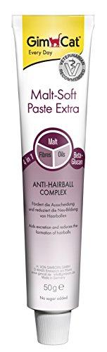 GimCat Malt-Soft Pasta Extra / Snack per gatti ricco di fibre con complesso Anti-Hairball / Favorisce l'espulsione dei boli e ne riduce la formazione /  1 tubetto (1 x 50 g)