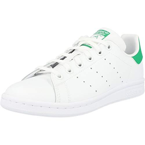 adidas Stan Smith J Zapatillas Unisex Niños, Blanco (Footwear White/footwear White/green 0), 35.5 EU