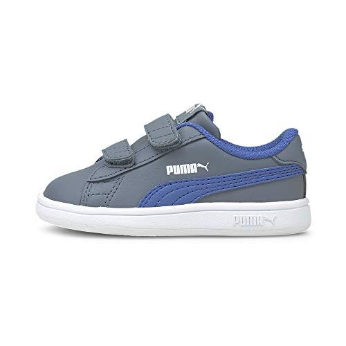 PUMA Unisex Baby Smash V2 L V INF Sneaker, Flint Stone-Star Sapphire, 26 EU