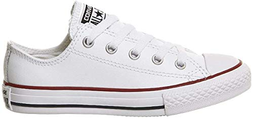 Converse Unisex-Kinder Chuck Taylor Ct Ox Sneakers, Weiß (White/Garnet/Navy 158), 24 EU
