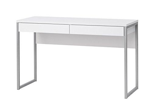 """Schreibtisch Computer PC Tisch Arbeitstisch\""""Function\"""" 2 Schubladen Büro weiß"""