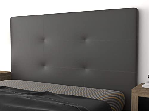 LA WEB DEL COLCHON - Cabecero tapizado Andrea para Cama de 150 (160 x 120 cms) Gris Ceniza