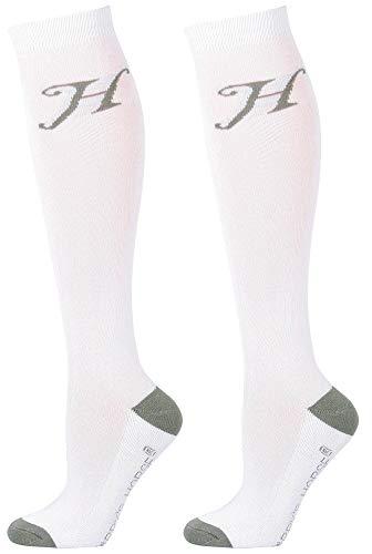 Harry's Horse Reitsocken Uni, Farbe:weiß, Größe:L