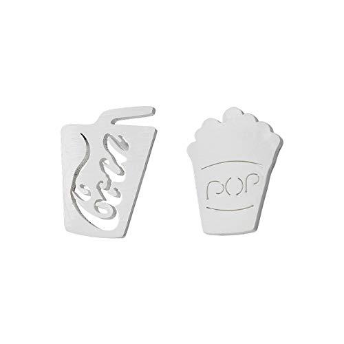 Selia Cola Popcorn Ohrstecker Kino Ohrring Modern Glück minimalistische Optik