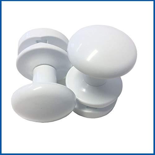 PRIME Handtuchhalter Weiß glänzend für Badheizkörper 2´er Pack Bademantelhalter Handtuchhaken