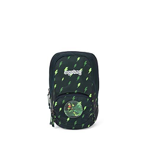 ergobag Ease Small Kids Backpack Mochila, Unisex niños, Black Green Blizzard, 6 L
