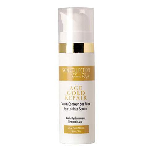Skin Collection by Perron Rigot - Sérum Contour des Yeux - Age Gold Repair - Sérum anti-âge à l'acide hyaluronique - Soin effet bonne mine - Spécial peaux matures - Tube 30 ml