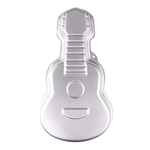YO-HAPPY Molde para Tartas, Aleación de Aluminio 3D Molde para Tartas en Forma de Guitarra Molde para Pasteles Pan para Hornear Herramientas de pastelería