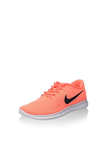 Nike Free RN Damen Laufschuhe, Orange (Bright Mango orange/Black Sunset Glow), 37.5 EU