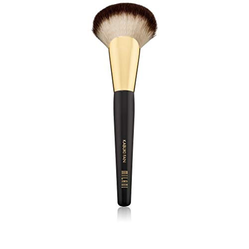 Milani Kabuki Fan Brush - Cruelty-Free Face Brush to Apply Loose & Pressed Powders - Made with High-Grade Synthetic Bristles