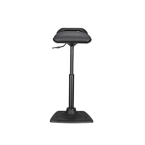 Vari Active Seat Basic - Adjustable Ergonomic Standing Desk Chair - Compact Wobble Perch Stool - Dynamic Range of Movement - No Assembly Required