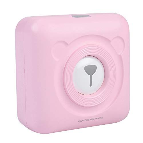 Eboxer Mini-kabelloser Bluetooth-Thermo-Fotodrucker Pocket Note Empfangsdrucker 57mm Thermodrucker, Mini Drucker unterstützt Handy für Studenten, Schatzmütter, Büro, Paare, Freizeit usw.(Rosa)