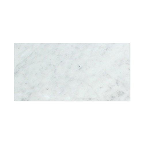 Carrara White Italian (Bianco Carrara) Marble 6 X 12 Subway Field Tile, Polished