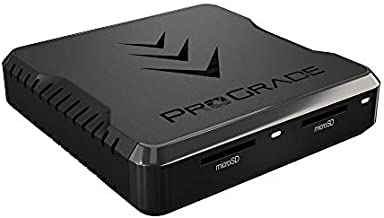 microSD UHS-II Dual-Slot Memory Card Reader by ProGrade Digital | USB 3.2 Gen 2 for Professional Filmmakers, Photographers & Content Creators