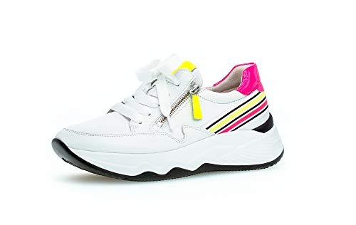 Gabor Sneakers 43 492 23 Wit Neon Verwisselbaar Voetbed
