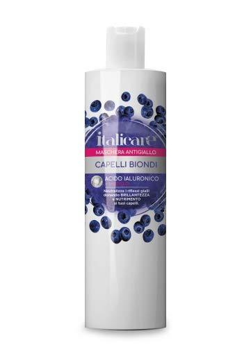 Hyaluronsäure Blaubeer Shampoo (500ml) Anti Gelbstich gegen gelbes und oranges Haar bei blonden, gesträhnten, colorierten, gefärbten grauen und weißen Haaren