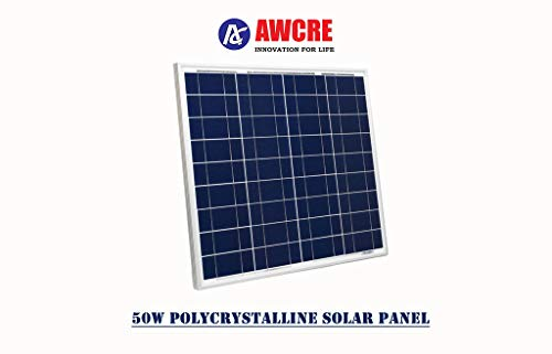 AWCRE 12 Volts, 50 Watts Solar Panel