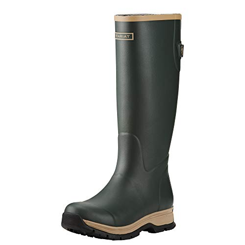 Ariat Women's Fernlee Rain Boot, Black, 9 B US